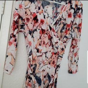 Pinkblush maternity | peach floral dress